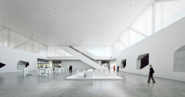 上海浦东美术馆概念设计方案+效果图