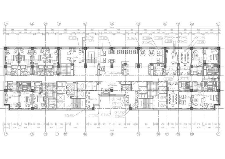 哈尔滨五星级豪华商务型酒店施工图+实景图
