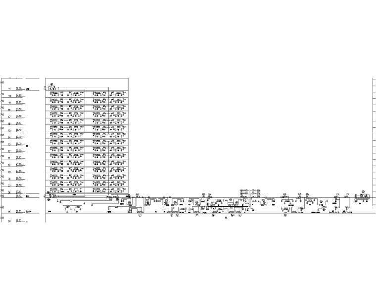 [青岛]超高层酒店暖通空调设计施工图-_设总45 B塔酒店空调风系统图-出图