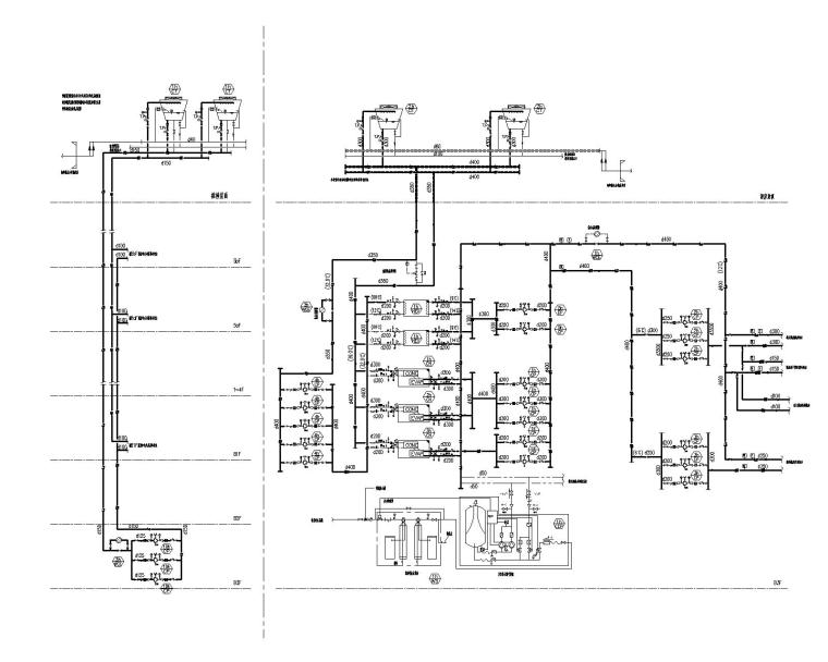 [青岛]超高层酒店暖通空调设计施工图-酒店制冷站系统图