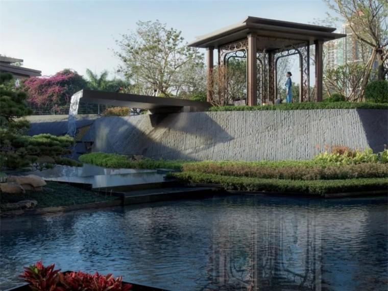 广州世茂天鹅湾示范区景观