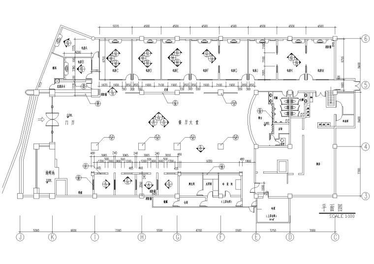 [上海]金沪酒店公区装饰设计项目施工图