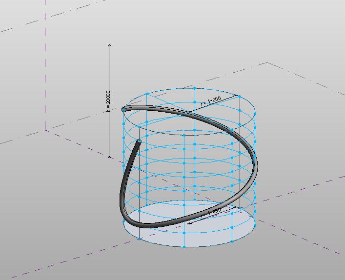 Revit中制作螺旋线的方法_11