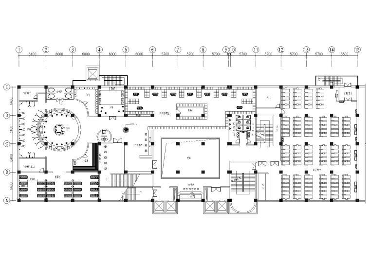 某酒店二层洗浴部室内装修设计项目施工图