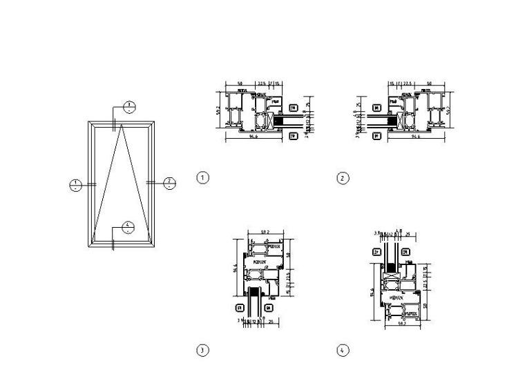 高层剪力墙住宅项目-门窗幕墙招标图纸2017-上弦窗节点图