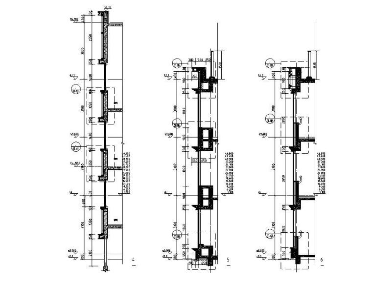 高层剪力墙住宅项目-门窗幕墙招标图纸2017-墙身大样图