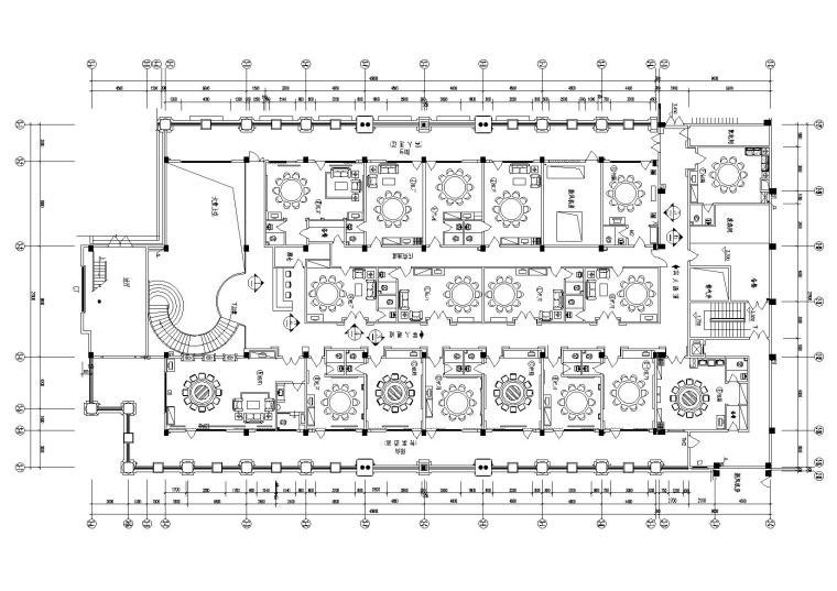 [重庆]天来大酒店东海王轩中餐厅设计施工图