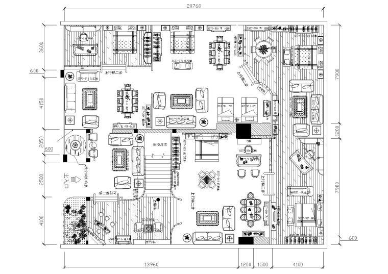 [上海]曲阳好人家专卖店一楼装饰设计施工图