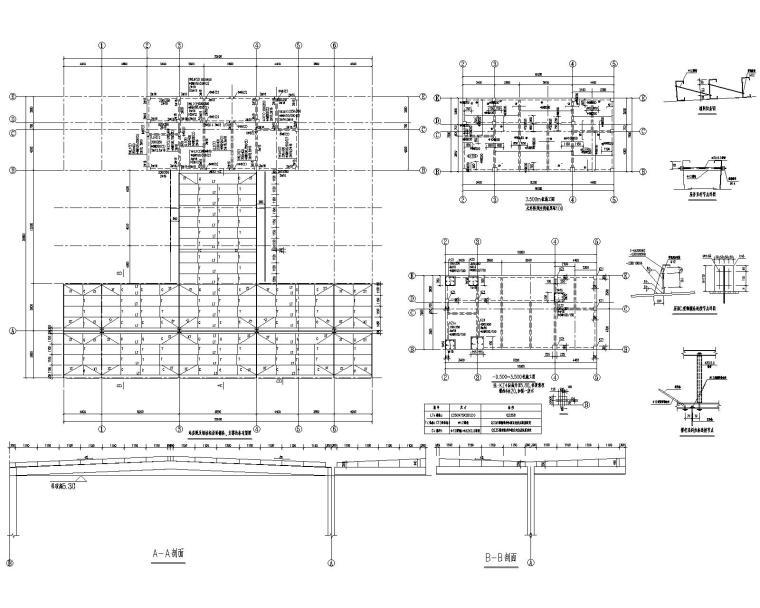 某加油站钢结构屋面结构施工图(CAD)