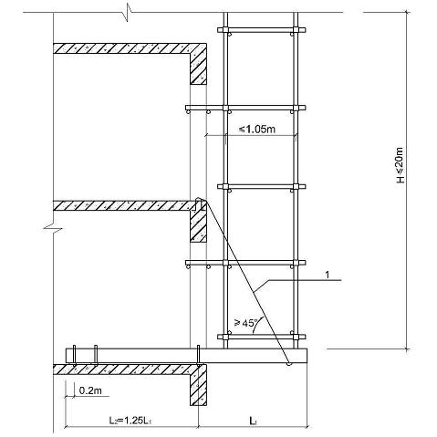 公寓楼双排悬挑脚手架施工方案
