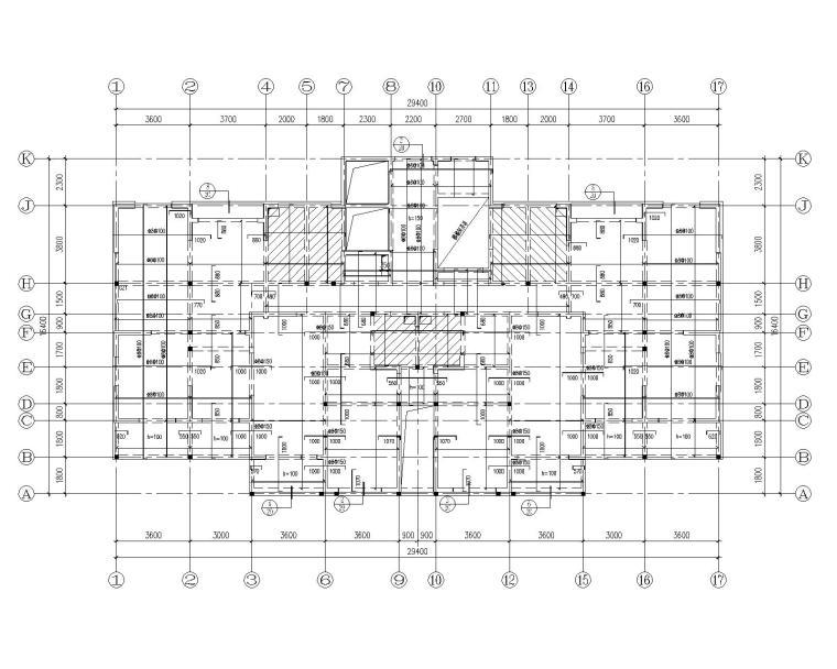 18层高层住宅混凝土结构施工图(CAD)