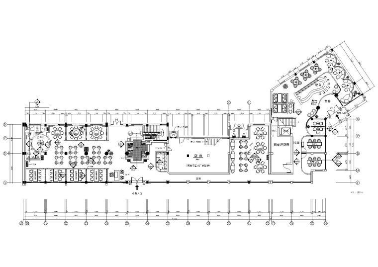 经典中式餐厅室内装饰设计项目施工图图片
