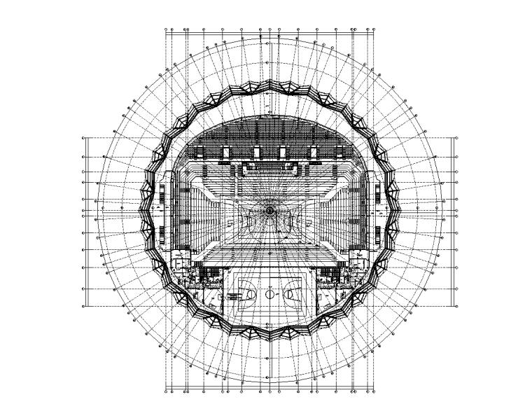 湖南2万平乙级体育馆电气施工图(全专业)