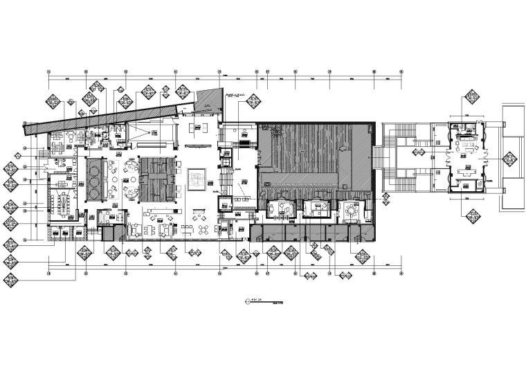 [南京]新城璞樾售楼处施工图+方案PPT+效果