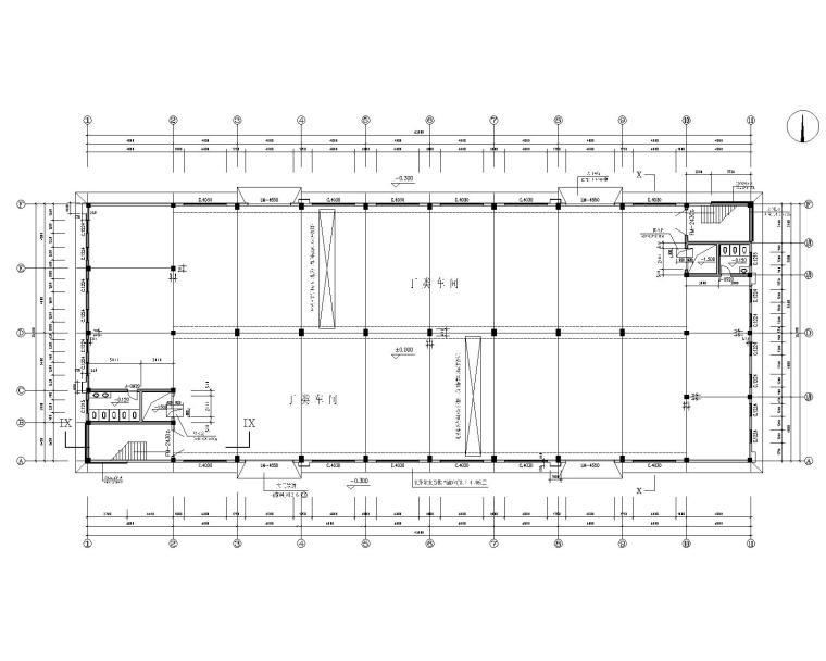 某2层混凝土结构厂房施工图(CAD含建筑)