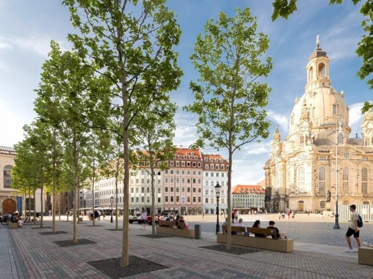 德国德累斯顿新市广场