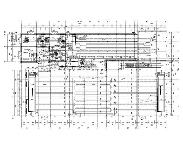 大型车间结构施工图钢结构屋面(含建筑图)