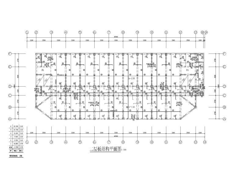 某六层混凝土教学楼结构施工图(CAD)