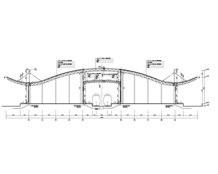 大型钢结构仓库桁架屋面结构施工图(CAD)