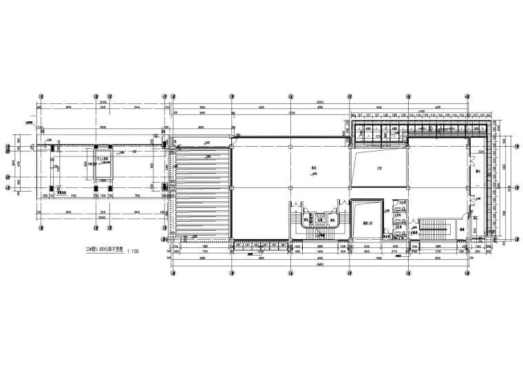 [上海]青浦普通商品房建筑竣工图+幕墙图纸-新里波洛克公馆幕墙施工图-32#楼、26#楼二层平面布置图