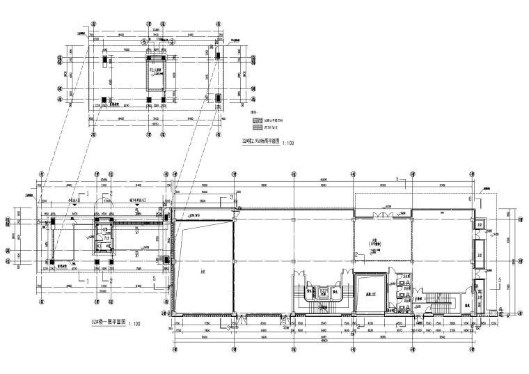 [上海]青浦普通商品房建筑竣工图+幕墙图纸-新里波洛克公馆幕墙施工图-32#楼、26#楼一层平面布置图