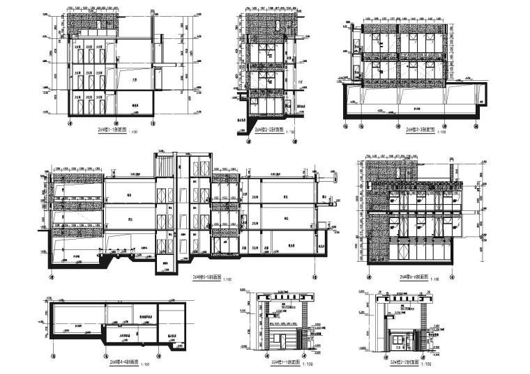 [上海]青浦普通商品房建筑竣工图+幕墙图纸-新里波洛克公馆幕墙施工图-剖面图
