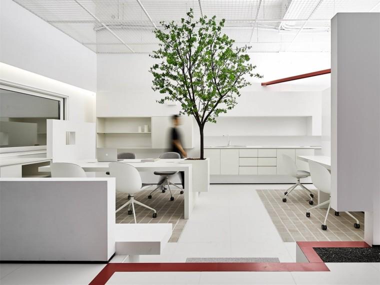 现代自然风的办公空间