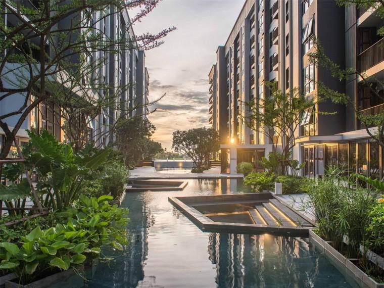 泰国湄南河畔ThePolitanBree住宅景观