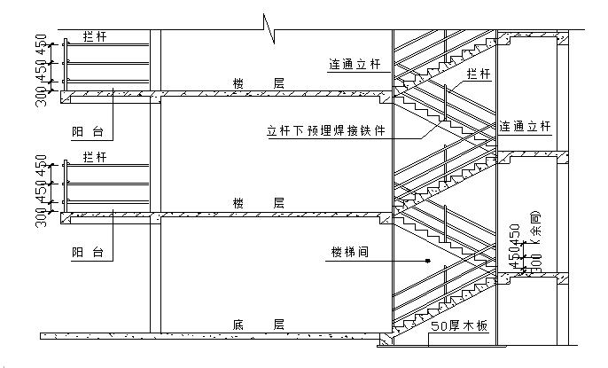 高层悬挑式脚手架专项施工方案(详细)