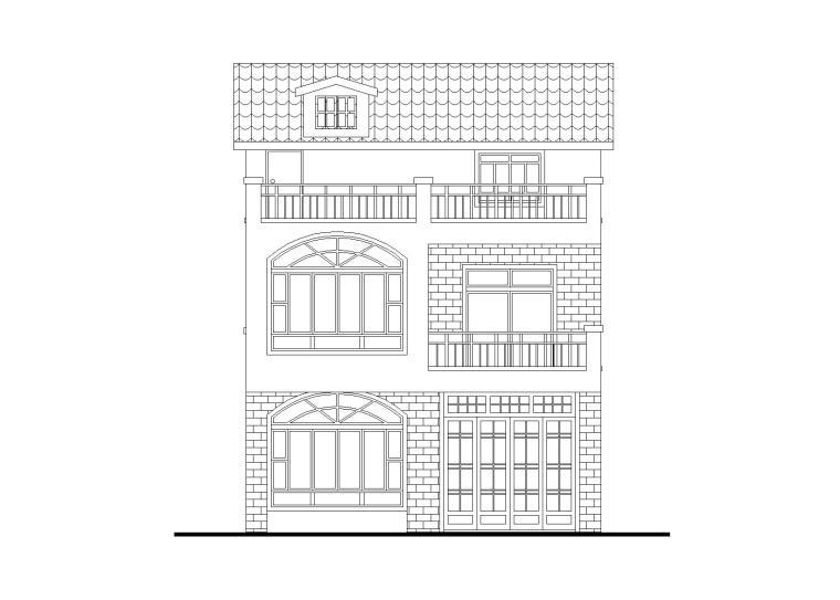 三层独栋别墅建筑施工图(面积92.4平)