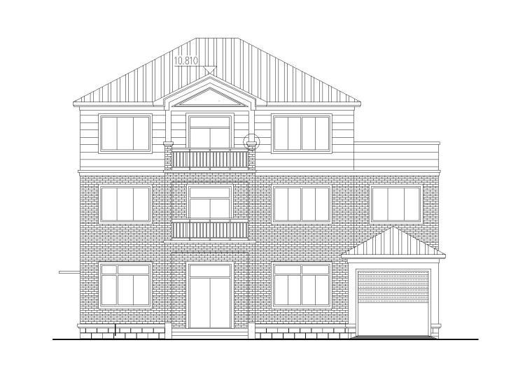 三层砖混结构新农村独栋别墅全套施工图