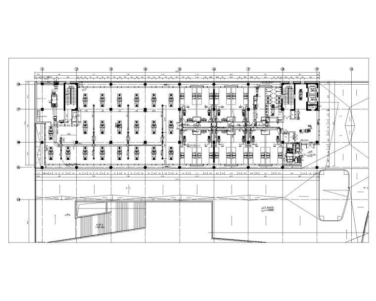 6#楼二层空调风系统平面图