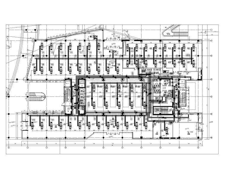 9#楼首层采暖、空调水系统平面图