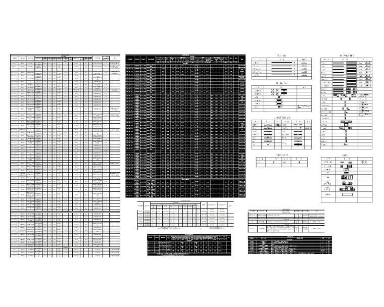 图例及设备明细表