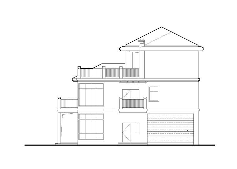 框架结构三层独栋别墅全套施工图(带效果图)