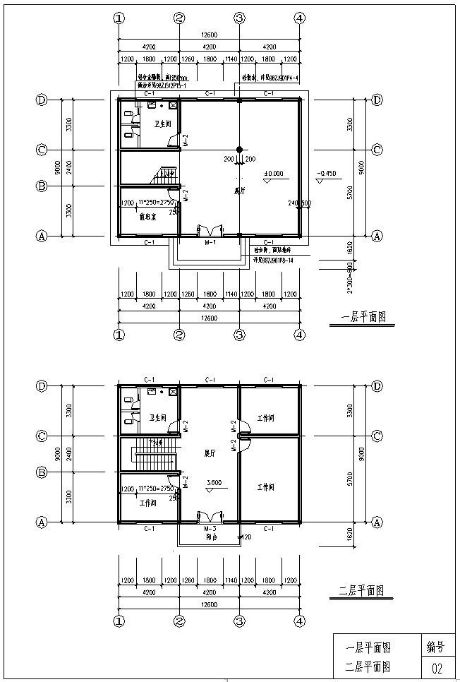 2、平面图
