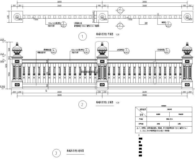 高端景观栏杆标准化设计施工图 (2)