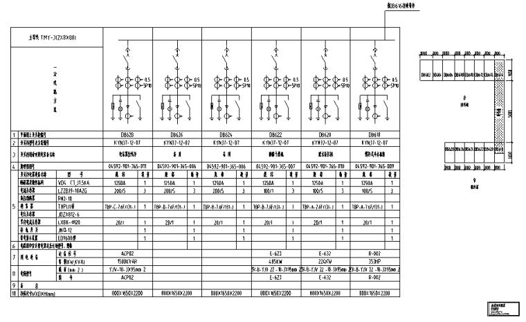 商业街10kV配电工程设计图纸