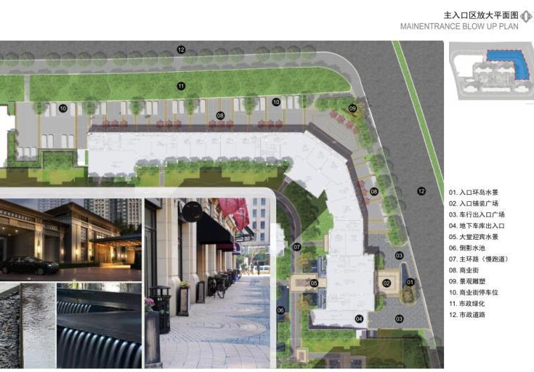主入口区放大平面图