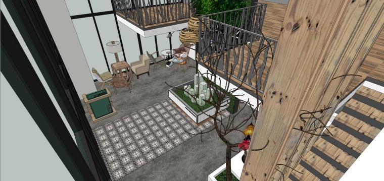 现代简约咖啡厅室内模型设计