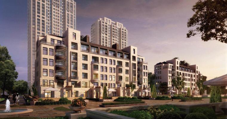 [上海]欧陆风格大都会新古典住宅建筑模型
