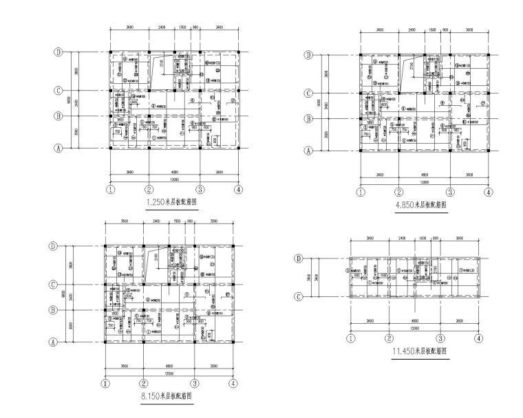 某3层农民住宅砖混结构施工图(CAD)