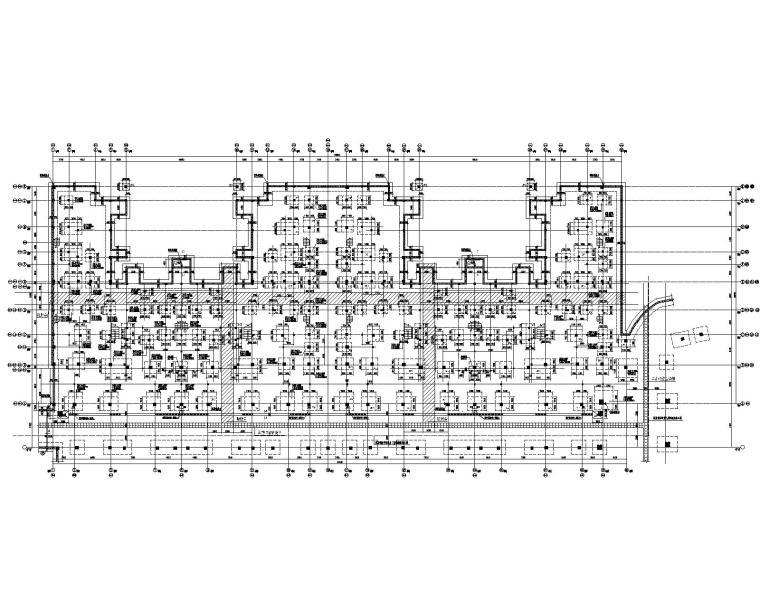 2层别墅大底盘框架结构施工图(CAD)