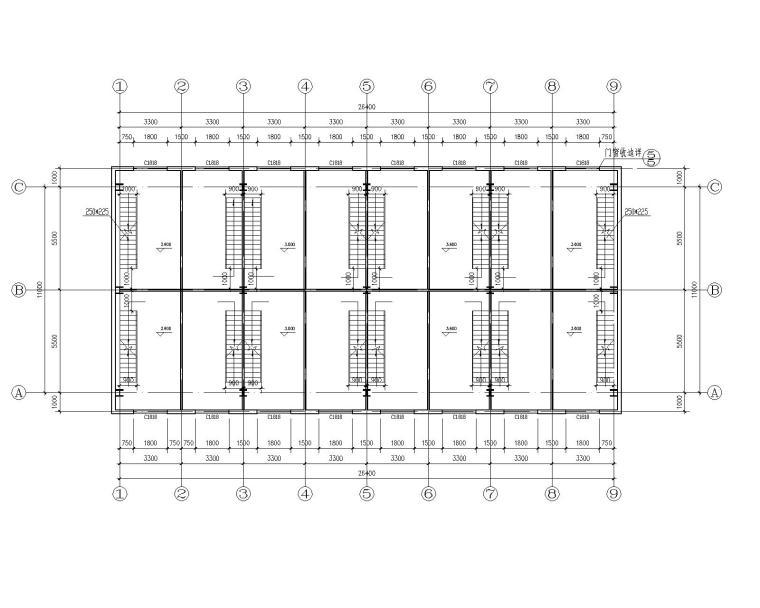 某2层钢结构商业结构施工图(CAD含建筑图)