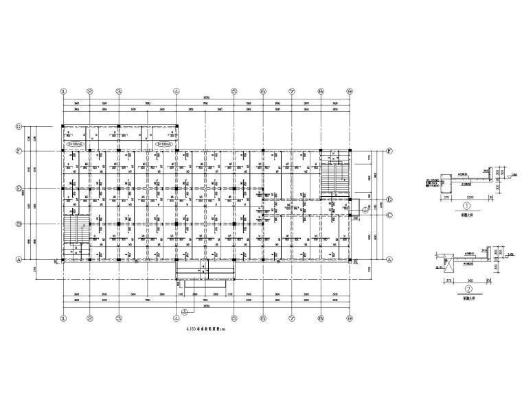 某2层食堂混凝土结构施工图(CAD)