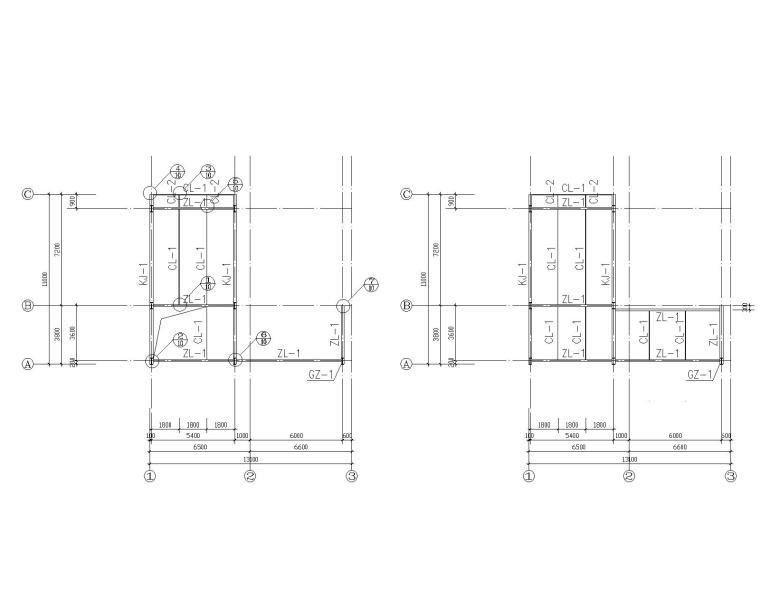 某3层钢结构办公结构施工图(CAD)