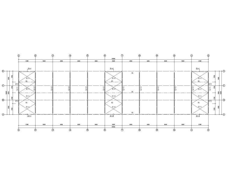 15米单跨钢结构厂房结构施工图(CAD)