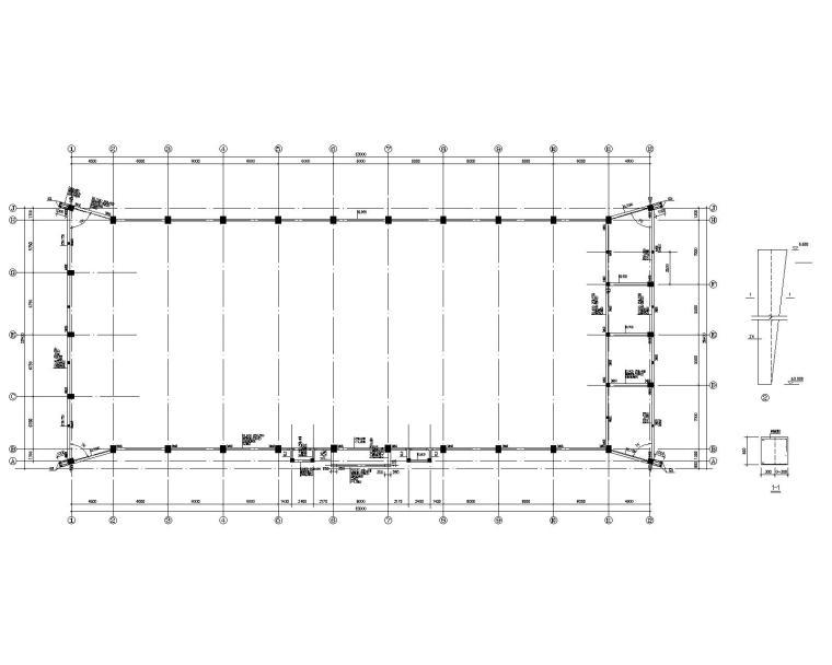 某学校室内体育场网架结构施工图(CAD)