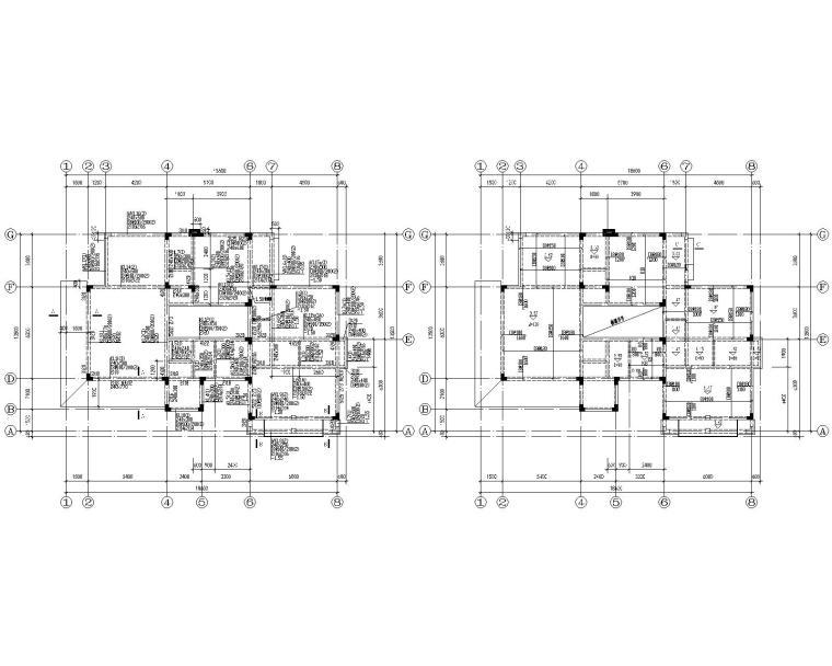 某2层别墅混凝土结构施工图(CAD)