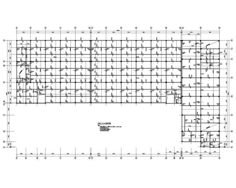 某五层框架厂房混凝土结构施工图(CAD)